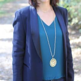 Pendentif Olivia rosé ou argenté - Bijoux - pendentif The LELI