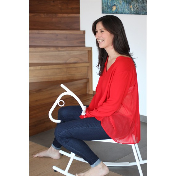Blouse Martine plissee rouge