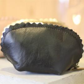 Porte-monnaie Alice cuir noir The LELI