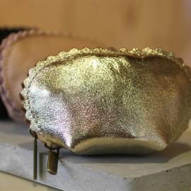 Porte-monnaie Alice doré cuir