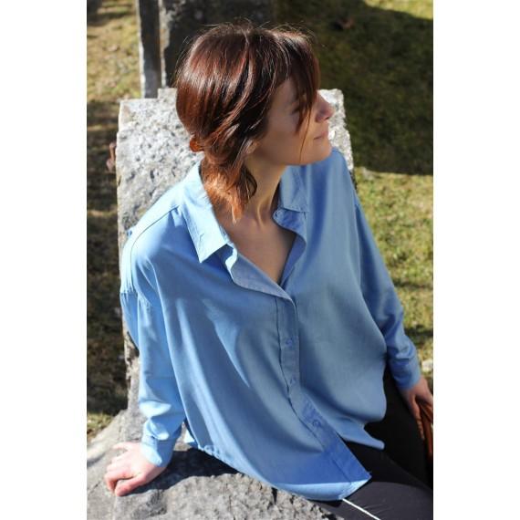 Chemise Noélie bleu jean oversize The LELI