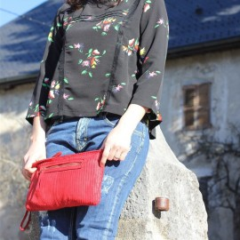 Sac Isabella cuir rouge The LELI
