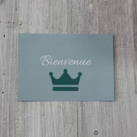 Carte postale Bienvenue Garçon bleue The LELI