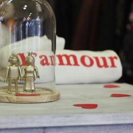 Décoration Les amoureux Playmobils dorés The LELI