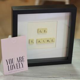 Cadre Scrabble Je t'aime The LELI