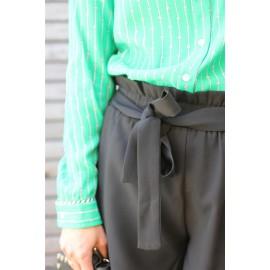 Short Lilou noir taille haute élastiquée The LELI