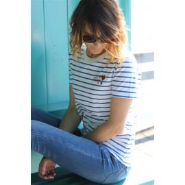 Tee-shirt Véra mariniere bleue Parfaite The LELI
