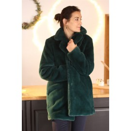 Manteau Panache fourrure vert - leli concept store