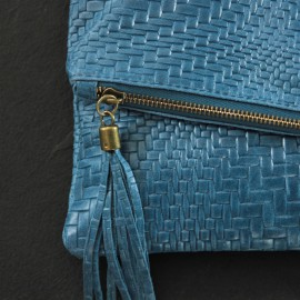 Sac pochette bleu cuir Maël - The LELI - accessoires femme -2017