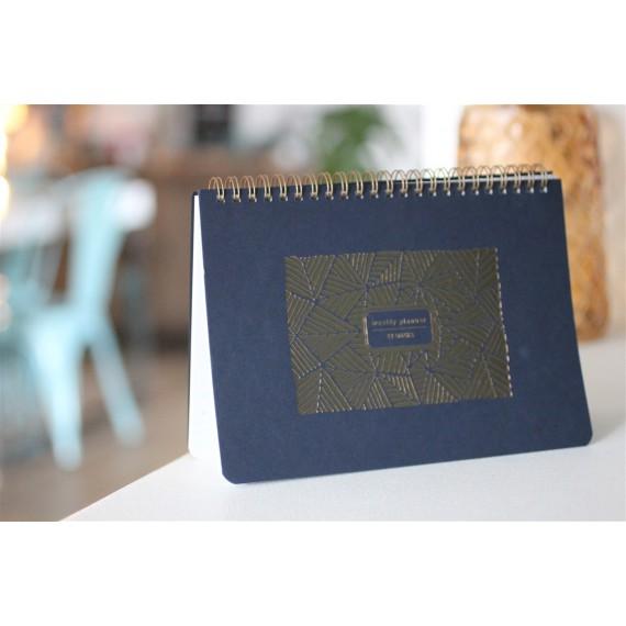 Semainier Feuillages bleu Editions du Paon - leli concept store