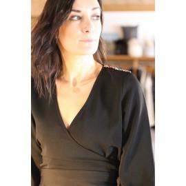 Robe Barbara noire Yuka Paris - leli concept store
