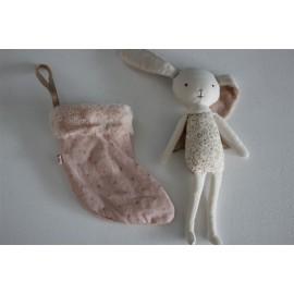 Doudou Ange Lapin dans sa chaussette de Noël rose Maileg Leliconcept store