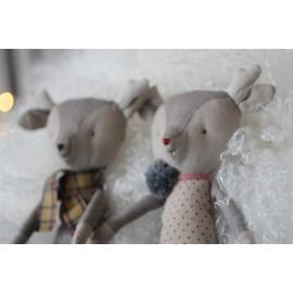 Doudou Rennes de Noël fille Maileg leli concept store