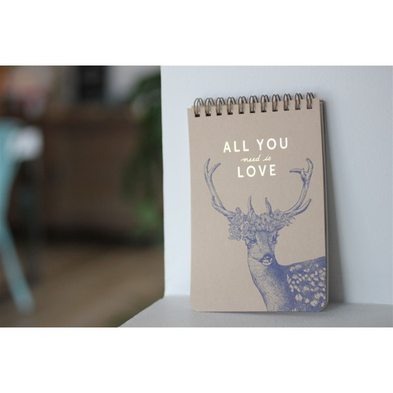 Bloc notes All you need is love leli concept store