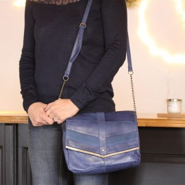 Sac Frances bleu Pieces - leli concept store