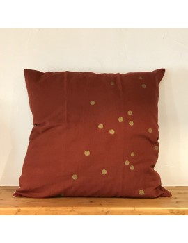 Coussin LINA TERRACOTTA POIS OR 50