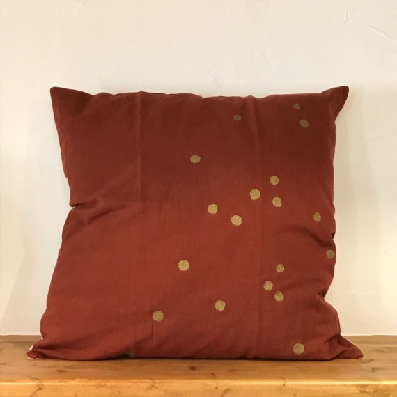 Coussin VERT LINA EPICEA PLUIE OR 30