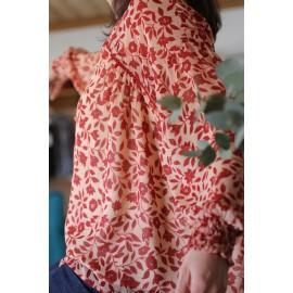 Blouse Jugu imprimé rouge leli concept store