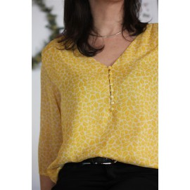 Blouse PASCALE jaune - The LELI