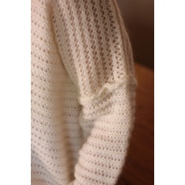 Pull Inais blanc oversize - The LELI