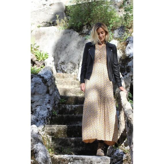 Robe_longue_jaune_Sylvia_YAS_theleli