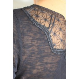 Tee-shirt Sumi marine - VILA - leli concept store