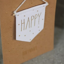 Carte Happy Birthday fanion - Raeder - leli concept store