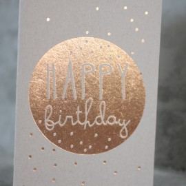 Carte Happy Birthday pois - Raeder - leli concept store