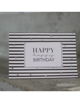 Carte Happy Birthday black - Raeder