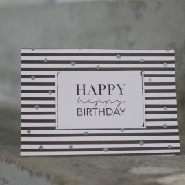 Carte Happy Birthday black - Raeder - leli concept store