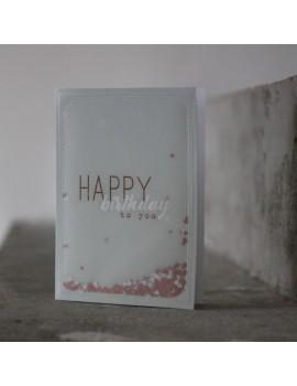 Carte Happy Birthday to you - Raëder