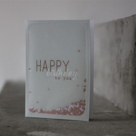 Carte Happy Birthday to you - Raëder - leli