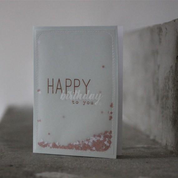 Carte Happy Birthday to you - Raëder - leli