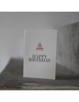 Carte Happy Birthday gâteau - Raëder