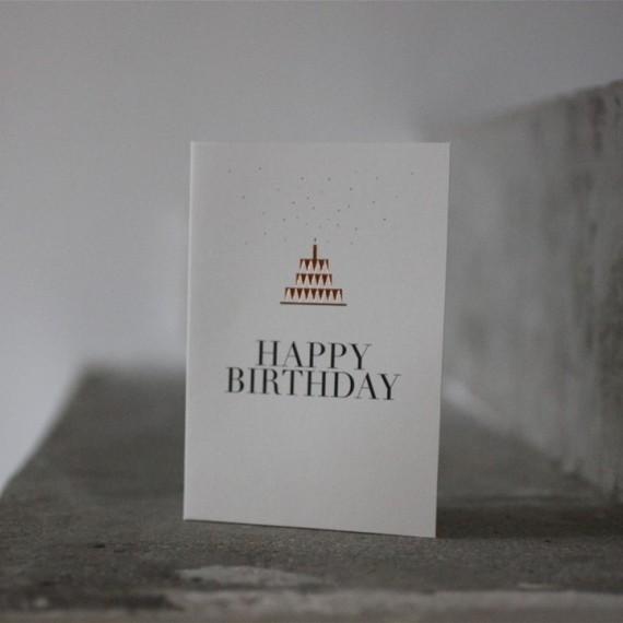 Carte Happy Birthday gâteau - Raëder - leli