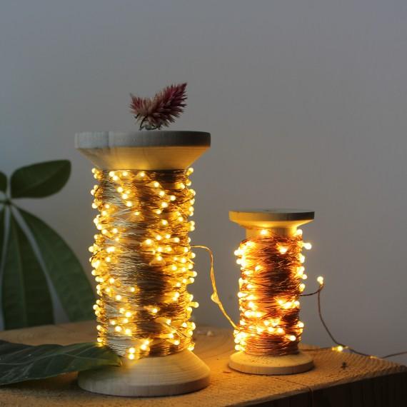 Bobine lumineuse cuivre - leli concept store