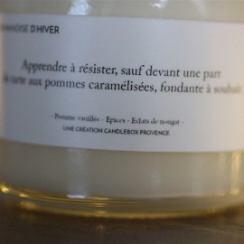 Bougie Gourmandises d'hiver - Candlebox - leli concept store