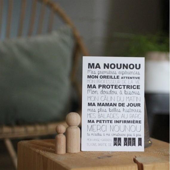Carte Ma Nounou - Suite Créative - leli concept store