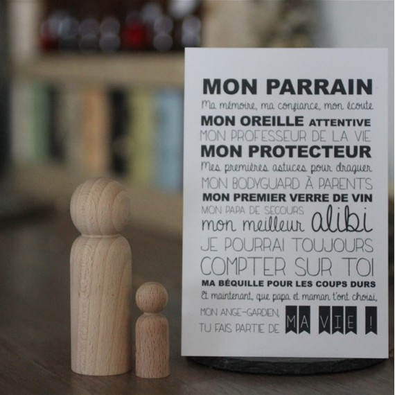 Carte Parrain - Suite Créative - leli concept store