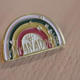 Pin's Arc en Ciel Maman adorée - leli concept store