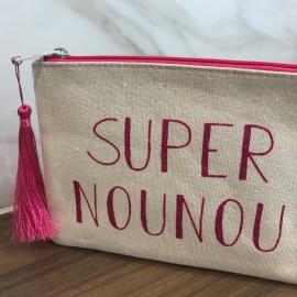 Pochette Super Nounou Or et Rose - leli concept store