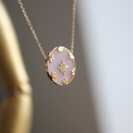 Collier Charles rose - leli concept store
