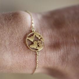Bracelet Terre doré - leli concept store