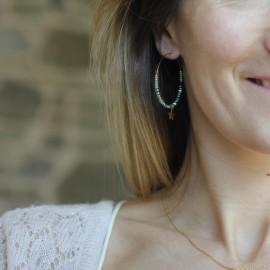 Boucles d'oreilles créoles Chloe - leli concept store