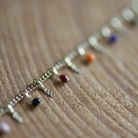 Bracelet Jeanne doré multico - leli concept store