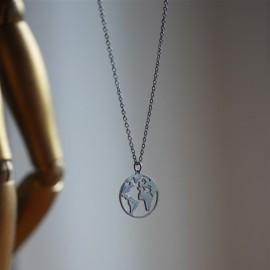 Collier Terre argent - leli concept store