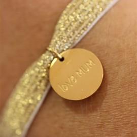 Bracelet médaille Maman - leli concept store