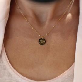 Collier médaille Maman leli concept store