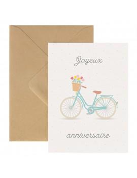 Carte Double Joyeux Anniversaire Vélo - Zü