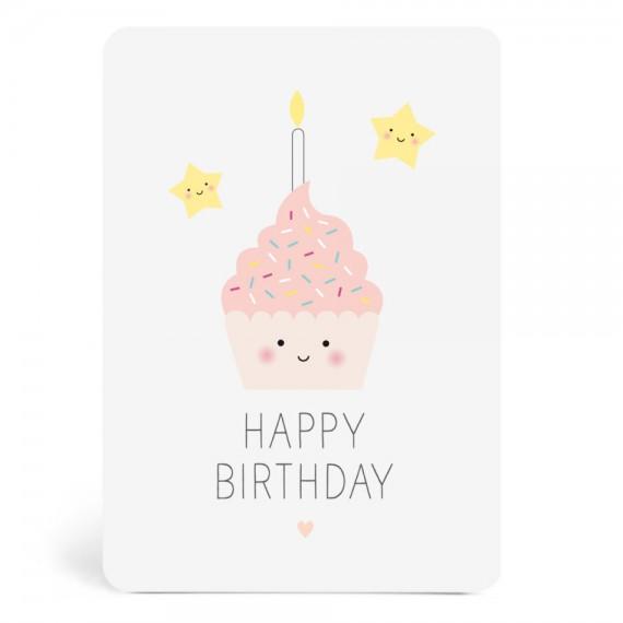 Carte Happy Birthday Gâteau